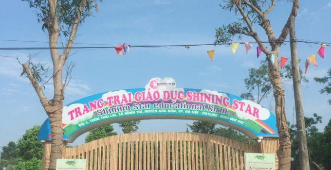 Trồng cây xanh tại Trang trại giáo dục Shining Star